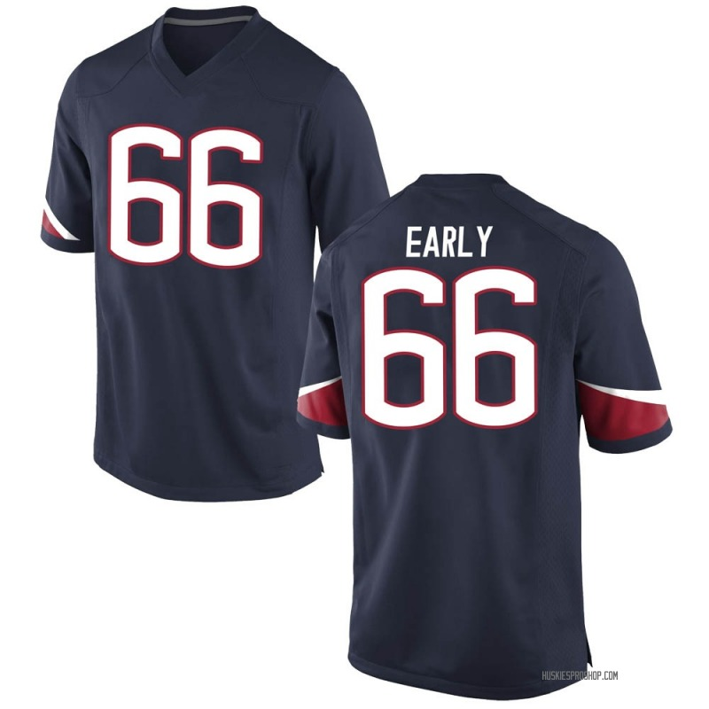 Replica Men's Zack Early UConn Huskies Navy Football College Jersey