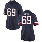 Replica Women's Will Meyer UConn Huskies Navy Football College Jersey